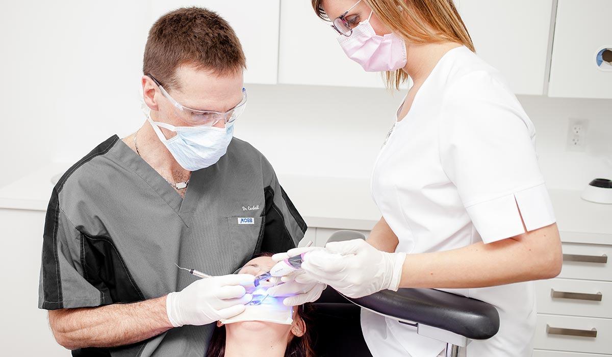 Traitement de digue dentaire