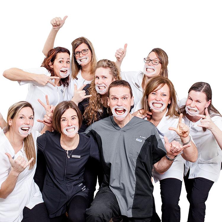 L'équipe de la Clinique dentaire du Dr Jocelyn Corbeil à Kingsey Falls