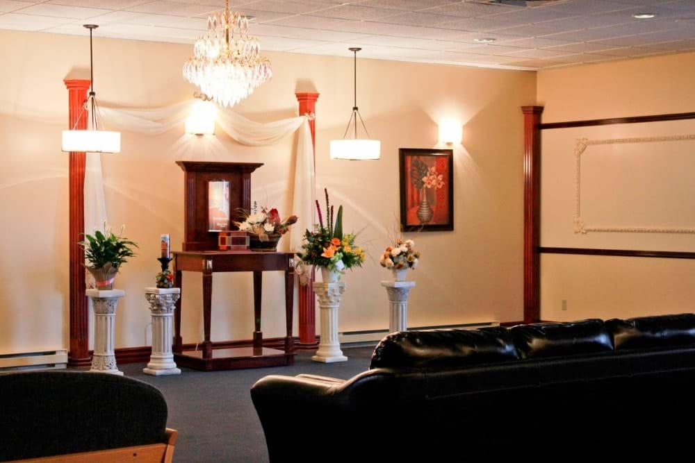 Condolence room (Gaspé)