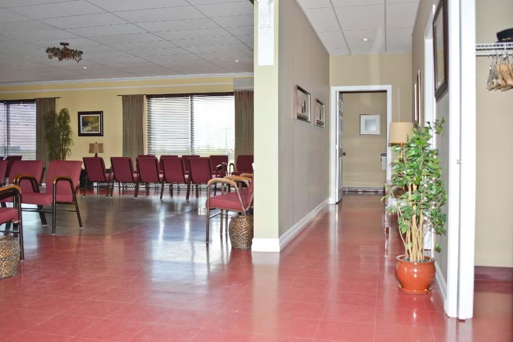 Condolence room (St-Anaclet)