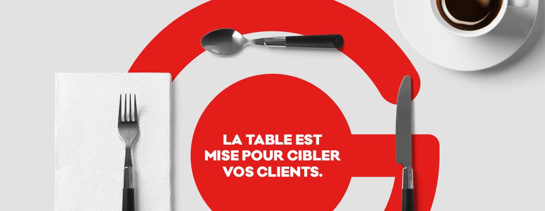 Publicité par le napperon : ciblez vos clients