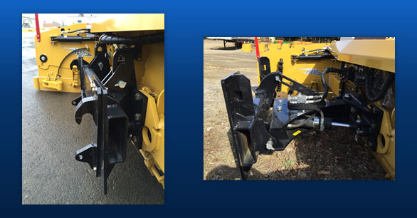 Vertical float system that increases the lifespan of the snowplow.