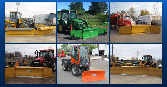 Blades and graders that adapts to all types of snowplows.